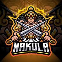 Nakula esport mascot logo design vector