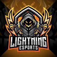 Lightning esport mascot logo design vector