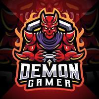 Demon gamer esport mascot logo design vector