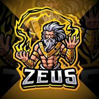 diseño de logotipo de la mascota zeus esport vector