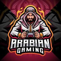 Arabian gaming esport mascot logo design vector