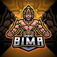 Bima esport mascot logo design vector