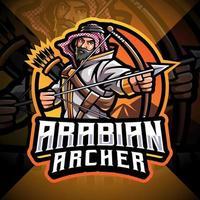 diseño de logotipo de la mascota de esport archer árabe vector