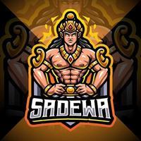 Sadewa esport mascot logo design vector