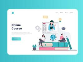 E-Learning and Online Course vector