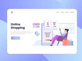 Shopping from Home vector