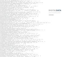 Banner de píxeles de color plateado horizontal moderno. Modelo gris cuadrado abstracto de la tecnología de los datos digitales en el fondo del color blanco. diseño de plantilla plana mínima. ilustración vectorial vector