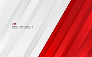 Fondo de color degradado rojo y blanco geométrico diagonal abstracto y textura de líneas con espacio de copia. estilo moderno y minimalista. que puede utilizar para folleto de plantilla, cartel, banner web, impresión. vector eps10