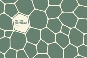 Abstract green and light yellow geometric voronoi background. Modern simple flat design.  Polygonal Mosaic pattern. Vector illustration