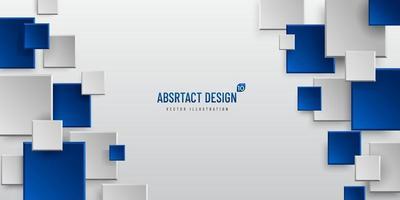 Fondo geométrico abstracto con espacio de copia, rectángulo gris y patrón de color azul oscuro. concepto moderno y minimalista. que puede utilizar para portada, póster, banner web, página de destino, anuncio impreso. vector eps10
