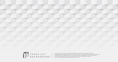 Fondo de patrón de diseño de corte de papel de color blanco y gris abstracto con espacio de copia. que puede utilizar para el diseño de portadas, obras de arte, anuncios, carteles, presentaciones. diseño pastel simple y minimalista. ilustración vectorial vector
