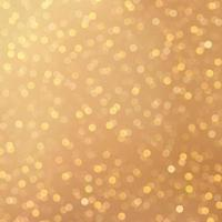 Merry christmas golden festival bokeh background. Gold and yellow orange bokeh lights background. Blurred abstract bokeh on background. Holiday glowing red lights with sparkles. Vector EPS10