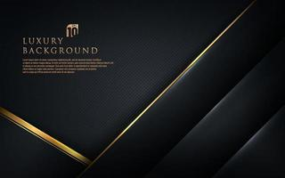 Abstract template black geometric diagonal with golden border on dark background. Luxury and elegant style. You can use for business presentation, poster, template. Vector illustration