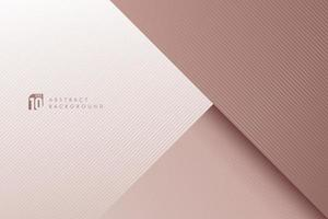 Abstract rose gold paper color dimension overlapping layer background with shadow. Luxury geometric pattern design with copy space. You can use for brochure, card, poster, banner web. Vector EPS10