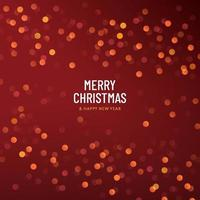 Merry christmas red festival bokeh background. Red and yellow orange bokeh lights background. Blurred abstract bokeh on background. Holiday glowing red lights with sparkles. Vector EPS10