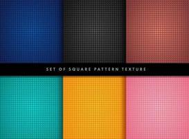 conjunto de diseño de textura de patrón cuadrado pequeño. colección de rectángulo azul negro bronce y fondo de color pastel. estilo de patrón geométrico moderno y simple. ilustración vectorial vector