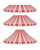 striped red circus tent stock vector illustration isolated on white background