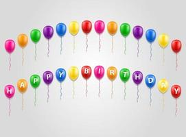happy birthday inscription text stock vector illustration isolated on white background