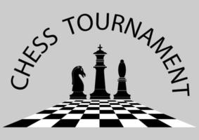 Chess tournament poster template vector
