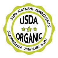 usda orgánico. señal ecológica usda certificada vector