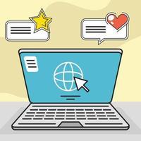 computer social media sms vector