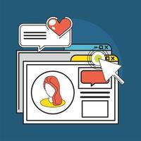 social media website vector