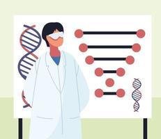 genetic dna scientific vector