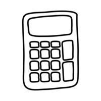 calculator math device line style icon vector