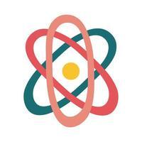 atom molecule flat style icon vector