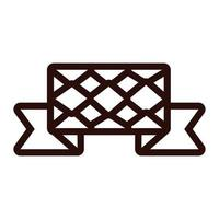 ribbon frame with oktoberfest flag line style icon vector