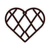 heart with oktoberfest flag line style icon vector