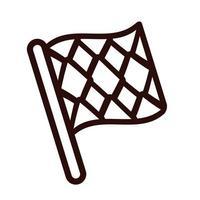 oktoberfest flag line style icon vector