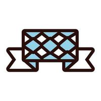 ribbon frame with oktoberfest flag line and fill style icon vector
