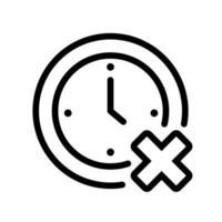 time clock with x line style icon vector