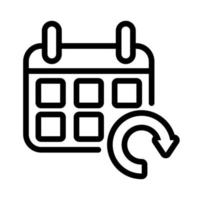 calendar reminder with arrow reload line style icon vector