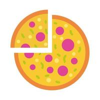 pizza italian fast food flat style icon vector