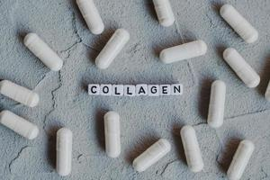 Pills capsules with collagen photo