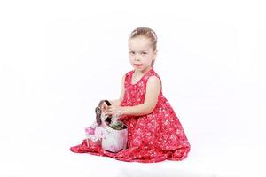Baby fashion with blonde little girl photo