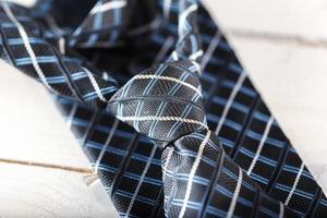Blue stripped ties, modern wardrobe accessories photo