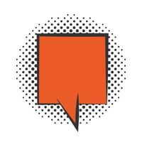 pop art speech bubble comics book halftone style flat design white background vector