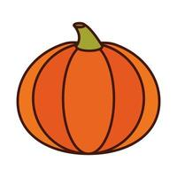 vegetable fresh pumpkin harvest line and fill icon vector