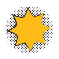 pop art blast speech bubble halftone style flat design white background vector