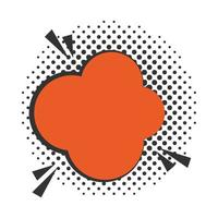 pop art speech bubble dialog cloud halftone style flat design white background vector