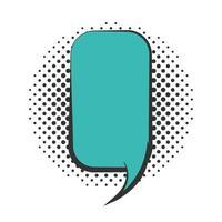 pop art speech bubble empty dialog cloud halftone style flat design white background vector