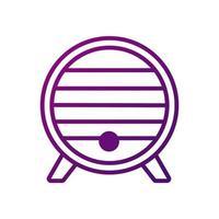 wine wooden barrel gradient style icon vector