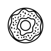 donut pop art line style vector
