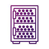 icono de estilo degradado de caja de almacenamiento de vino vector