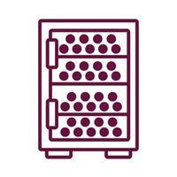 icono de estilo de línea de caja de almacenamiento de vino vector