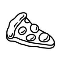 pizza pop art line style vector