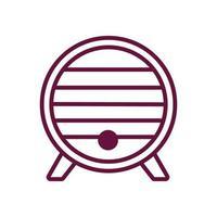 wine wooden barrel line style icon vector